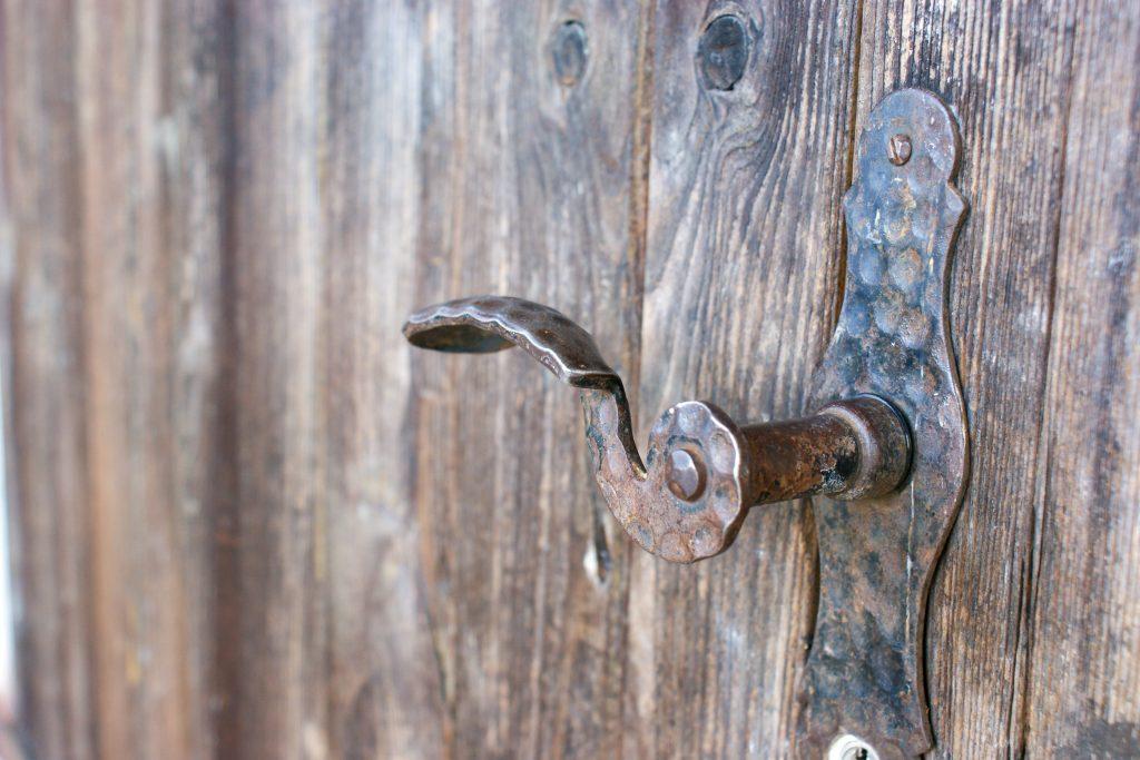 Türschnalle der Eingangstür