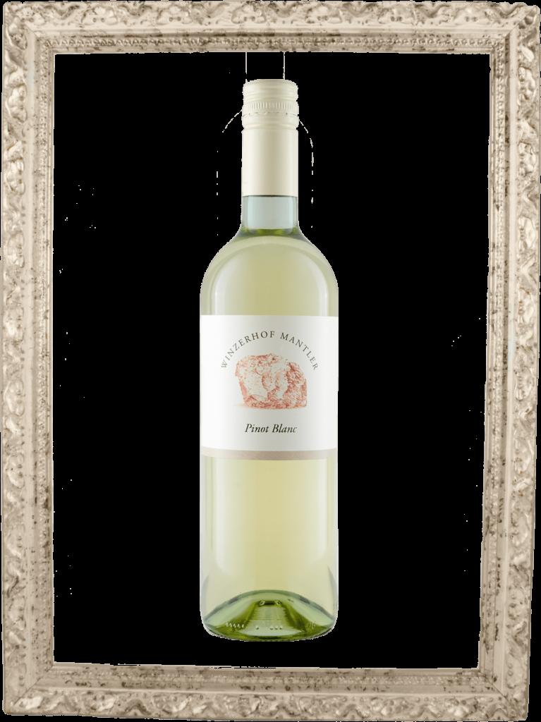 Pinot blanc Flasche im Bilderrahmen
