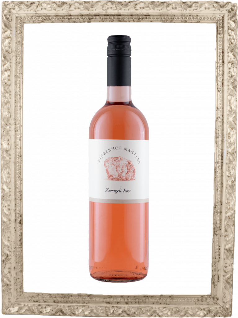 Zweigelt Rosé Flasche im Bilderrahmen
