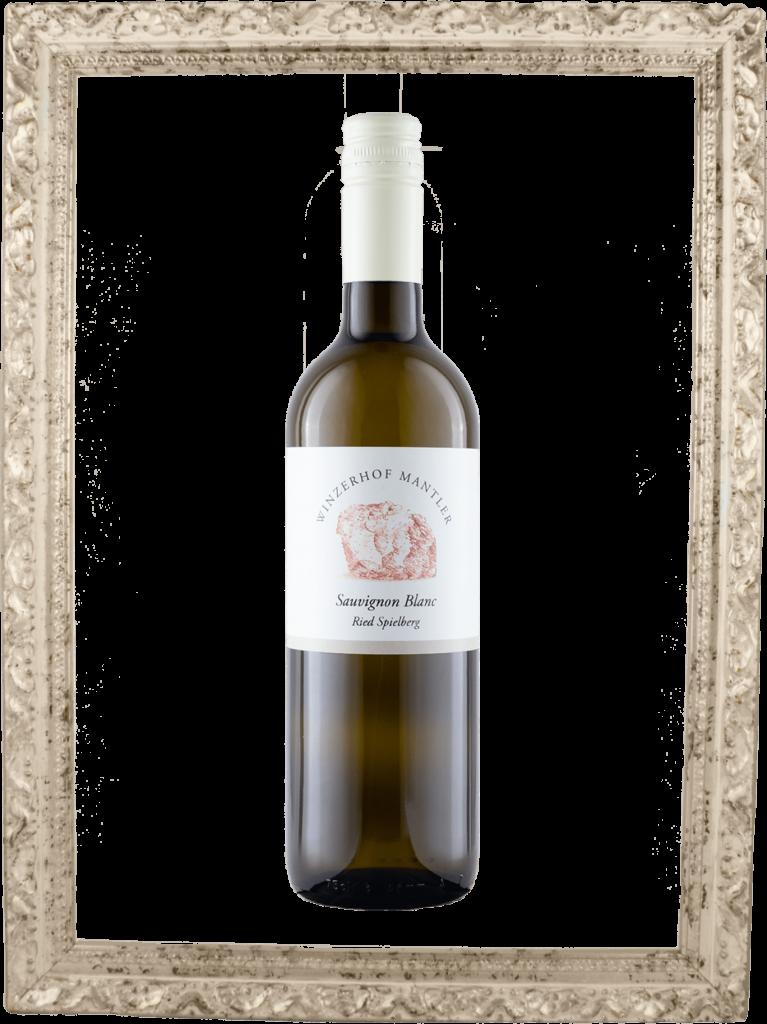 Sauvignon Blanc Flasche im Bilderrahmen